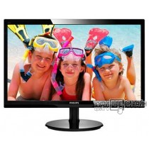 "Монитор Philips 24"" 246V5LSB (00/01) черный TN+film LED 5ms 16:9 DVI матовая 250cd 1920x1080 D-Sub FHD 4.65кг"