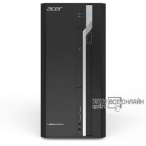 ПК Acer Veriton ES2710G MT i3 7100 (3.9)/4Gb/SSD128Gb/HDG630/Windows 10 Professional/GbitEth/черный