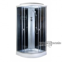 AQUAPULSE Душевая кабина 4122D grey black . 90х90х220см