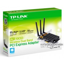 Сетевой адаптер WiFi TP-Link ARCHER T9E PCI Express (ант.внеш.съем) 3ант.