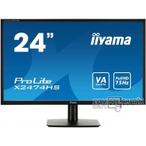 "Монитор Iiyama 23.6"" E2474HS-B1 черный TN+film LED 4ms 16:9 DVI M/M матовая 250cd 1920x1080 D-Sub FHD"
