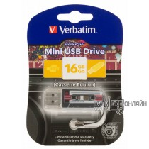 Флеш Диск Verbatim 16Gb Mini Cassette Edition 49397 USB черный
