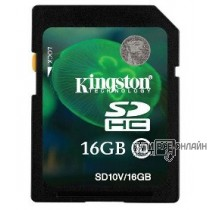 Флеш карта SDHC 16Gb Class10 Kingston SD10V/16GB