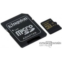 Флеш карта microSDHC 16Gb Class10 Kingston SDCG/16GB + adapter