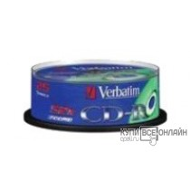 Диск CD-R Verbatim 700Mb 52x DataLife Cake Box (25шт) 43432