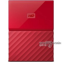 "Жесткий диск WD Original USB 3.0 2Tb WDBLHR0020BRD-EEUE My Passport 2.5"" красный"
