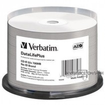 Диск CD-R Verbatim 700Mb 52x Cake Box (50шт) Printable (43756)