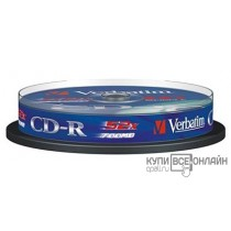 Диск CD-R Verbatim 700Mb 52x DataLife Cake Box (10шт) 43437