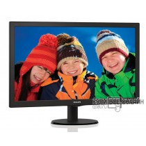 "Монитор Philips 27"" 273V5LHAB (00/01) черный TN+film LED 5ms 16:9 DVI HDMI M/M матовая 300cd 1920x1080 D-Sub FHD 4.53кг"