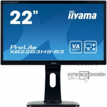 "Монитор Iiyama 21.5"" ProLite XB2283HS-B3 черный VA LED 4ms 16:9 HDMI M/M матовая HAS Pivot 250cd 178гр/178гр 1920x1080 D-Sub DisplayPort FHD 4.8кг"