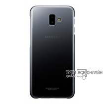 Чехол (клип-кейс) Samsung для Samsung Galaxy J6+ (2018) Gradation Cover черный (EF-AJ610CBEGRU)