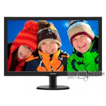 "Монитор Philips 27"" 273V5LSB (00/01) черный TN+film LED 5ms 16:9 DVI матовая 300cd 1920x1080 D-Sub FHD 4.53кг"