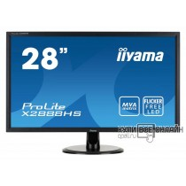 "Монитор Iiyama 28"" ProLite X2888HS-B2 черный VA LED 5ms 16:9 DVI HDMI M/M матовая 300cd 178гр/178гр 1920x1080 D-Sub DisplayPort FHD 5.3кг"