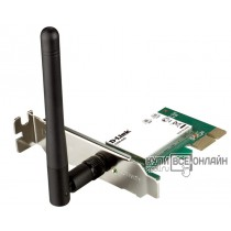 Адаптер D-Link DWA-525/B1A  Wireless PCI Express-Adapter (150Mbps, 2.4GHz, WEP,WPA & WPA2)