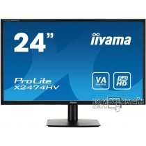 "Монитор Iiyama 23.6"" E2474HV-B1 черный TN+film LED 4ms 16:9 матовая 250cd 1920x1080 D-Sub FHD"