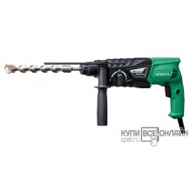 Перфоратор Hitachi DH24PH патрон:SDS-plus уд.:2.7Дж 730Вт (кейс в комплекте)